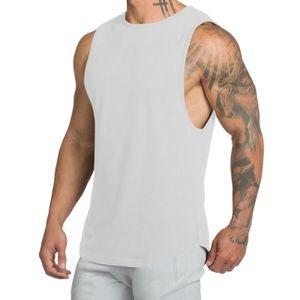Männer Casual ärmelloses T-Shirt Rundhalsausschnitt Weste Tank Tops Hemd Pullover Sweatshirt,Farbe: Weiß,Größe:XL