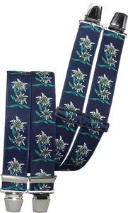 Hosenträger mit 4 extra starken Clips Edelweiß 6 Farben!, Farben:marine