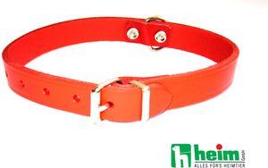 "Heim Lederhalsband"", 22mm breit, 55cm lang, Farbe: rot, 6000662"