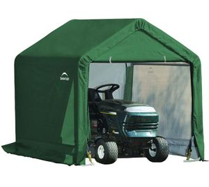 ShelterLogic Foliengerätehaus 1,8x1,8 m Gerätehaus 3,24 m² grün Geräteschuppen Foliengarage Unterstand