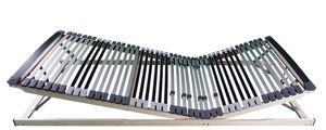 AM Qualitätsmatratzen | Ergonomischer 7-Zonen Lattenrost | 120x200 cm | fertig montiert geliefert | verstellbar | 44 Federholzleisten | Lattenrahmen | 120x200