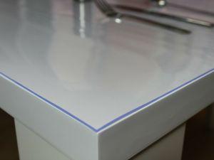 Tischschutz Folie Transparent 2mm  Schutzfolie Tischdecke PVC 70/80/90/100/120 , Breite:90 cm, Länge:160 cm