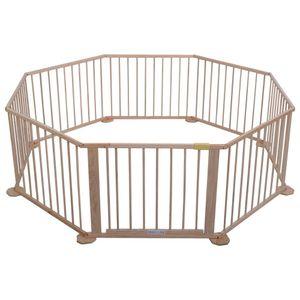Baby Laufgitter für Kinder - Haustier, Aus Holz, Faltbar, Mobiler Laufstall, Kinderzaun XXL, Absperrgitter für drinnen, Klappbar, Eckig, Groß
