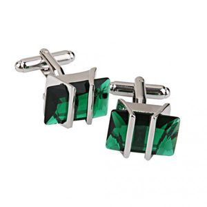 Kupfer grün Kristall Manschetten knöpfe Manschetten knöpfe Schmuck Geburtstags geschenk 1 Paar