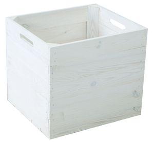 Holzkiste weiß passend für Kallax und Expeditregale Regaleinsatz