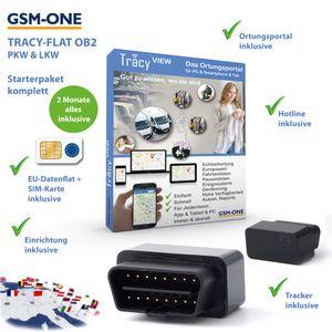 GPS Tracker TRACY-OB2 SOFORTPAKET: Ultrakompakter OBD2 Tracker inkl. EU-SIM, EU-Ortung, PC-Portal, App, inkl, 2 Monate Nutzung. .. Einstecken, Fertig!
