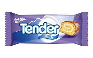 Milka Tender Milk umhüllt mit Alpenmilch Schokolade kleiner Kuchen 37g
