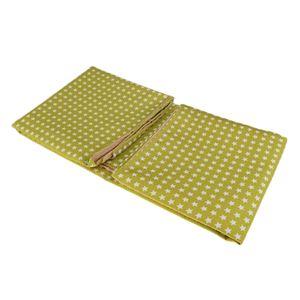 Hochstuhlmatte Schutzmatte Spielteppich Baby Laufteppich für Kinderzimmer Schlafzimmer Wohnzimmer Farbe Grüne Sterne