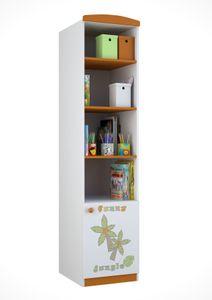 Polini Kids Standregal Basic Jungle mit Schubladen wei-orange,1184-1