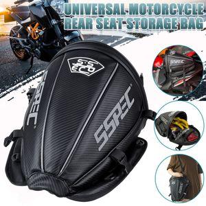 Universal Motorrad Hecktasche Wasserdicht Aufbewahrung Soziustasche Schwarz