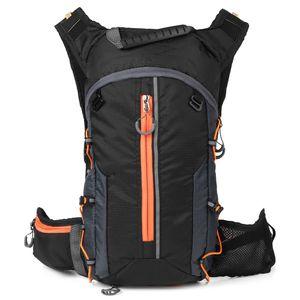 Faltbarer Fahrradrucksack Leichter Outdoor Sport Fahrradrucksack,Farbe:  Schwarz und Orange