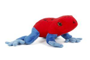 Plüschtier Frosch 18 cm, Erdbeerfrosch,  Frösche Stofftiere Plüschtier Kuscheltier