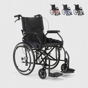 Klappbarer Rollstuhl aus Orthopädischem mit Bremsen Behinderte und Ältere Menschen DasyFarbe: Schwarz