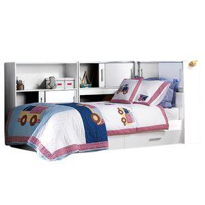 Funktionsbett Taylor 90*200 cm weiß inkl. Regale + Bettkästen Jugend Kinderzimmer Liege