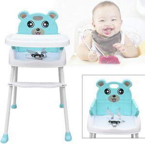 4 in1 Kinderhochstuhl Klappbar Baby Kinder Hochstuhl Verstellbar Babystuhl Kinderstuhl Treppenhochstuhl Fütterungsstuhl mit Tablett Grün