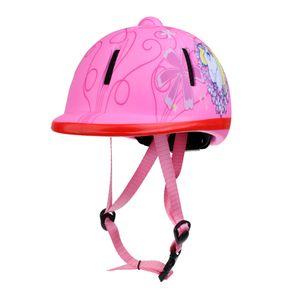 Kinder Kinder Einstellbare Reitmütze / Helm Kopfschutzausrüstung Snow Pink Farbe Schneerosa