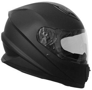 Integralhelm 62 Helm Rollerhelm Motorradhelm Sturzhelm matt schwarz Größe M Visier klar