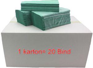 Papierhandtücher Handtuchpapier Falthandtücher Papier Grün 1-lagig 5000 Blatt Papierhandtücher Falthandtücher Handtuchpapier Weiß 1-lagig V-Falz 25x23, Karton 20 x250 Blatt, Einweghandtücher,Papier-Falttücher, Papier Handtücher,Falthandtuch,Papierhandtücher für Spender Zickzack Falz