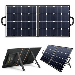 SUAOKI 100W Tragbare Solarladegerät Falten Solarpanel Solarmodul Solarzelle Autobatterien Ladegerät Akku USB NEU