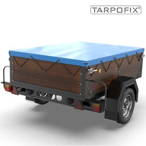 Tarpofix® Anhängerplane 160x115x7,5cm mit Planengummi - PKW Flachplane für DDR Anhänger HP500 & HP650 I Anhänger Abdeckplane