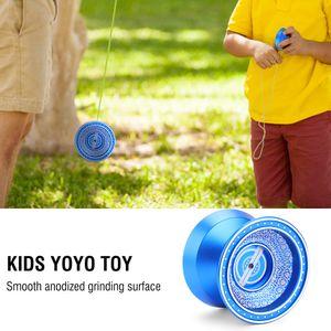 Kinder Yoyo Spielzeug Trick Jojo + 3 Saiten + 1 Handschuh für Anfänger Jungen DE