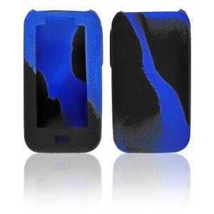 PhoneNatic Case kompatibel mit Vaporesso Luxe - Hülle Silikon schwarz-blau Cover Tasche