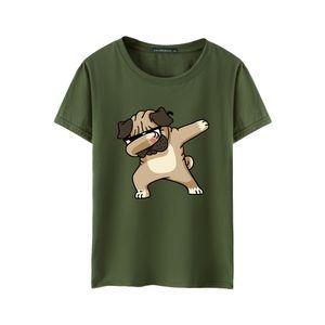 Neue Herren kurz?rmelige T-Shirt Mode Rundhalsausschnitt Brief Pers?nlichkeit Herren halb?rmelige T-Shirt gro?e Herrenbekleidung Gro?handel Îæ Gesicht Hund Armee