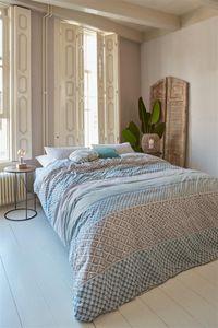 Rivièra Maison Renforcé Bettwäsche 2 teilig Bettbezug 155 x 220 cm Kopfkissenbezug 80 x 80 cm Boho Dream  196677 Grün