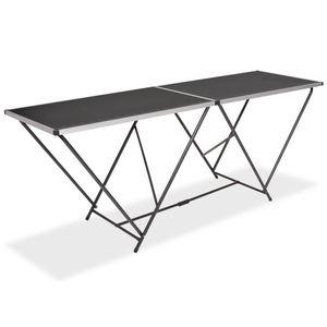 Tapeziertisch & Arbeitstisch & Universaltisch Klappbar MDF und Aluminium 200×60×78 cm5745