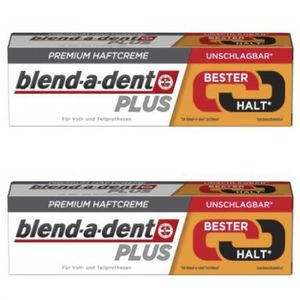 2 x Blend-a-dent Premium Haftcreme Duo Kraft 40g