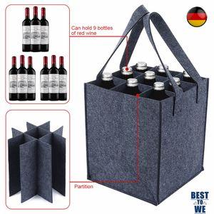 9er x1.5L Bottle Bag Flaschentasche Flaschenträger Flaschenkorb bottlebag  , 24 x 24 x 28 cm