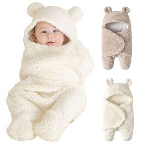 Babyfußsack Baby Winter-Einschlagdecke Kuschelsack Babydecke waschbar Schlafsack passend für alle Kinderwagen, Braun