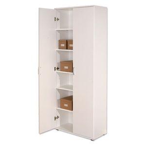 Geräumiger Schrank Aktenschrank weiß Büroschrank Büro Mehrzweckschrank Arconati 2-türig 5 Böden