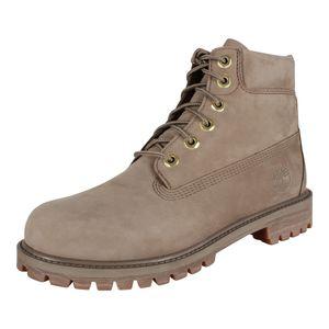 Timberland 6 In Prem Waterproof Damen Stiefel Cremefarben / Beige Schuhe, Größe:40