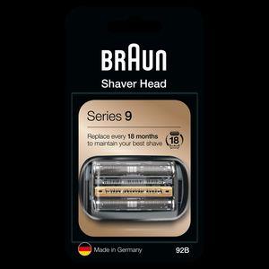 Braun Series 9 92B Elektrorasierer Ersatzscherteil – schwarz