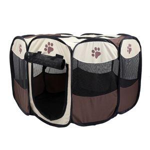 WYCTIN Welpenauslauf Welpenlaufstall Faltbare Abnehmbar Tierlaufstall Katzen laufstall Tragbar für Welpen, Hunde Katze Kleintiere
