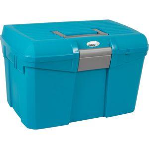 CATAGO Pferde Putzbox - türkis/blau