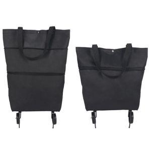 Supermarkt tragbare klappbare Shopping Lebensmittelwagen mit Rädern Handtasche Tasche