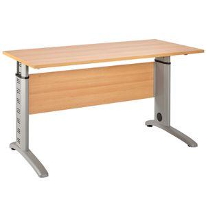 Schreibtisch TYP1200 Buche Nachbildung, B x H x T ca.: 140 x 69,5 - 87,5 x 65 cm