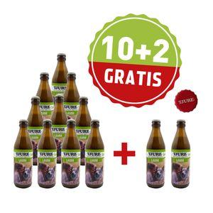 10 + 2 gratis à 320 ml TJURE Flüssigfleischnahrung Sensitive mit Lamm & Reis Hund