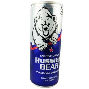 Russian Bear Energy Drink mit Taurin 250ml inkl.0,25€ Einwegpfand Koffein