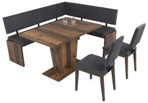 Eckbank Eckbankgruppe Essgruppe MILANO 180 x 150 cm Old Wood Vintage