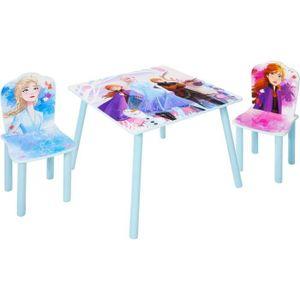 DISNEY FROZEN 2er Set Frozen Tisch und 2 Stühle für Kinder - Blau