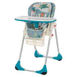 Chicco Polly 2in1, Haken-Hochstuhl, Gepolsterter Sitz, Mehrfarben, 3-Punkt, 15 kg, 6 Monat( e)