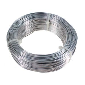 1kg Aluminiumdraht Ø2mm (ca. 120m) Aludraht Alu Draht Nasendraht silber weich
