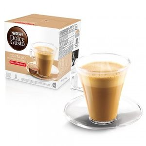 Nescafé Dolce Gusto Espresso Cortado Decaffeinato, Entkoffeiniert, Kaffee, Kaffeekapsel, 16 Kapseln