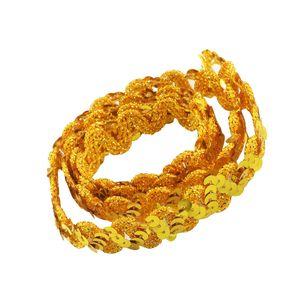 glänzende Paillette Paillettenbesatz Spitze für Stoffkleid Verschönerung Gold wie beschrieben