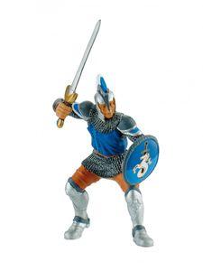 """Bullyland 80764 Figur """"Schwertkämpfer"""" blau aus Kunststoff"""