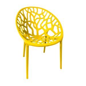 Terrassenstuhl Stapelstuhl gelb