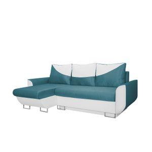 Mirjan24 Ecksofa Arte, Polsterecke mit Bettkasten und Schlaffunktion, L-Form Sofa vom Hersteller, Ausziehbares Ecksofa (Soft 017 + Platinum 33)